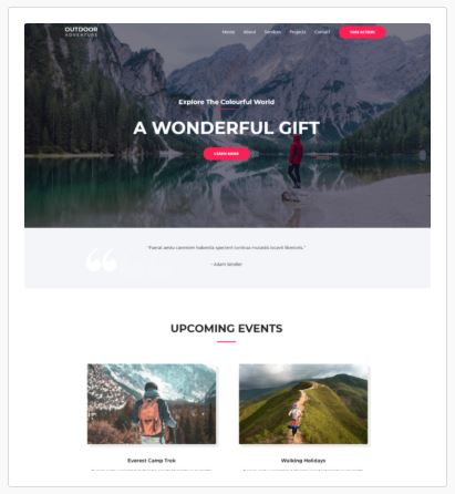 Adventure, Travel and Holiday Website Designers London